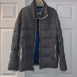 Guess double zip light grey winter coat